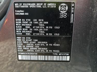 1V2MR2CA7KC534748 2019 VOLKSWAGEN ATLAS SEL - фото 10