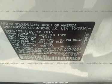 1V2PR2CA4MC539258 2021 VOLKSWAGEN ATLAS 3.6L V6 SE W - фото 9