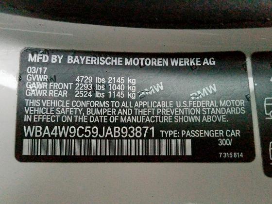 WBA4W9C59JAB93871 2018 BMW 440XI  - фото 10