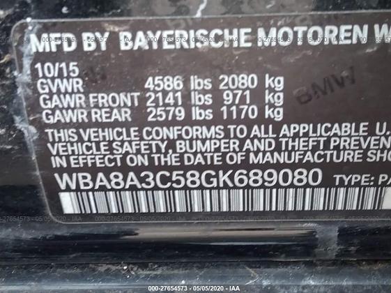 WBA8A3C58GK689080 2016 BMW 320 XI - photo 8