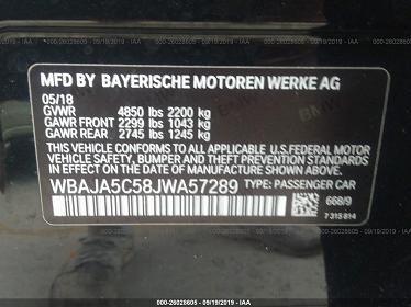 WBAJA5C58JWA57289 2018 BMW 530 I - фото 8